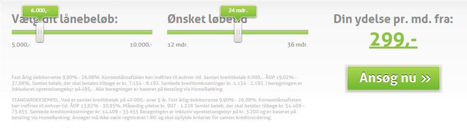 Ansøgningsformular: Lån 6000 kr